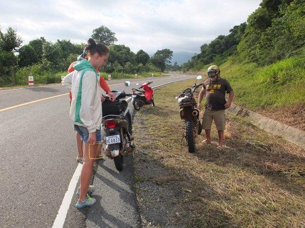 Остановка на подъеме на Пном Бокор
