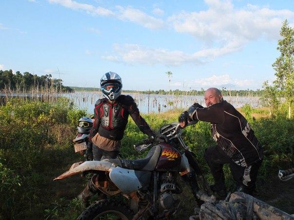 На берегу дикого озера в джунглях