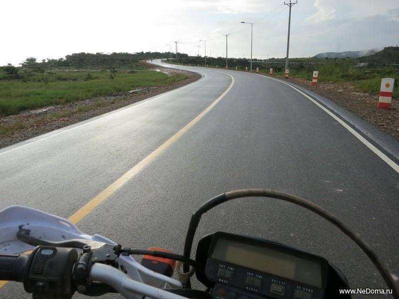 Дорога на гору Пном Бокор