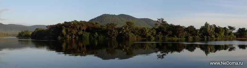Река Кампотка ранним утром
