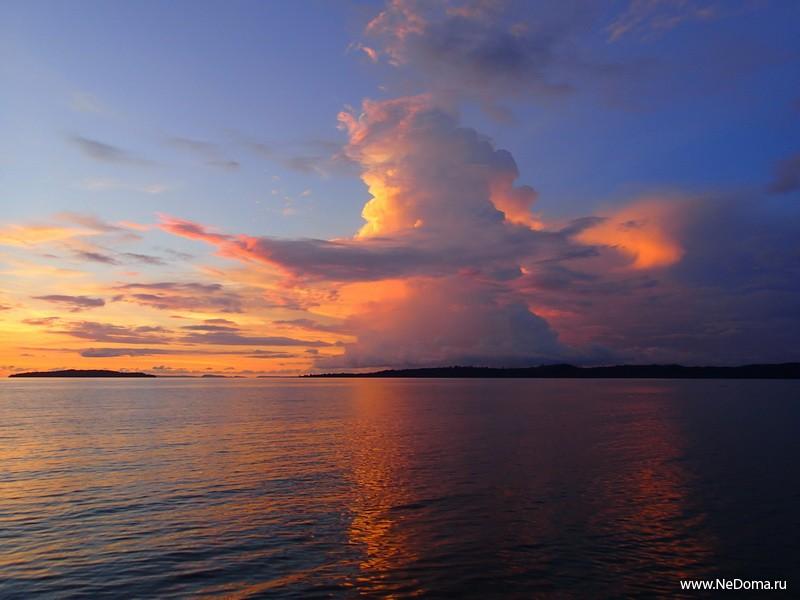 Феерические облака над Сиамским заливом