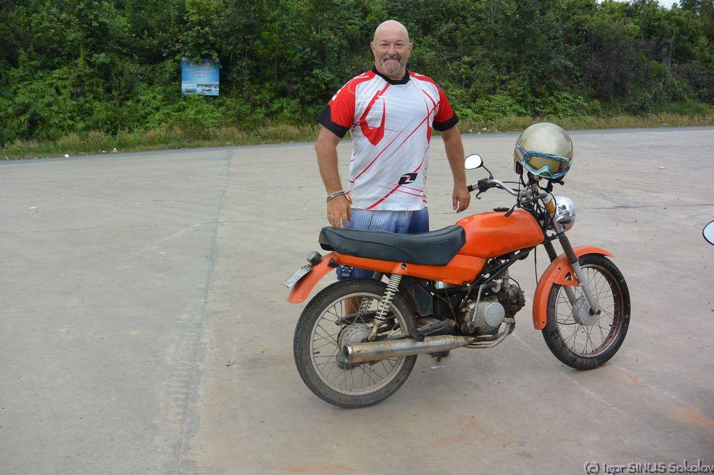 на этом мотоциклике мы ездили втроем!!!