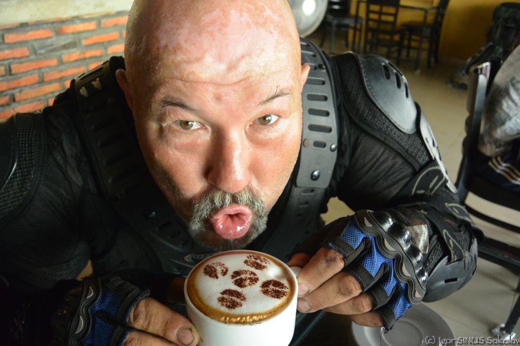 Весь кофе обцеловал :)
