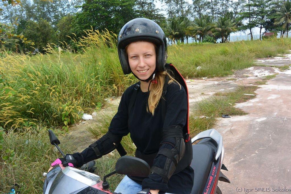 села на мотоцикл
